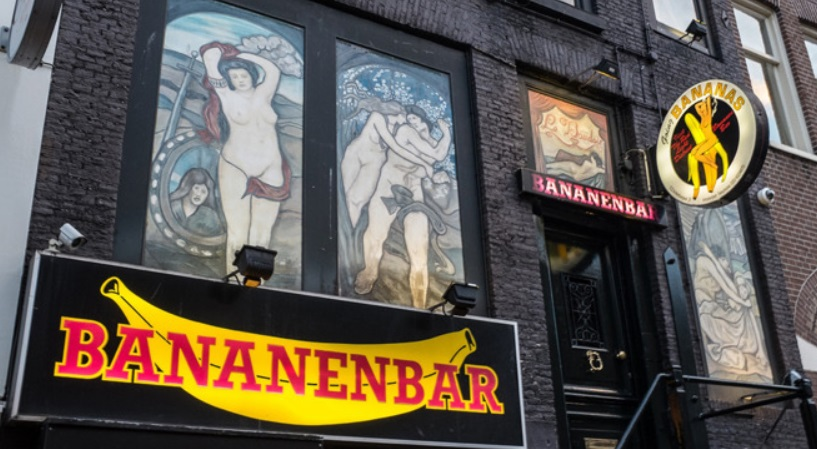 Amsterdam Banana Bar From Red Light District Amsterdam